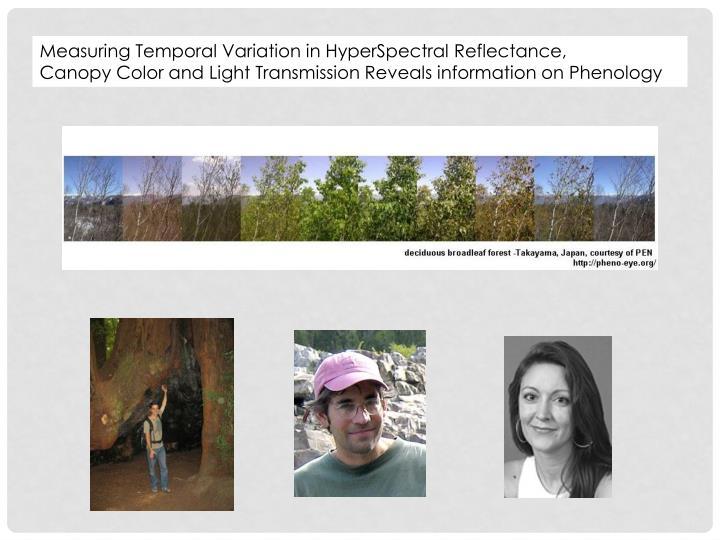 Measuring Temporal Variation in HyperSpectral Reflectance,