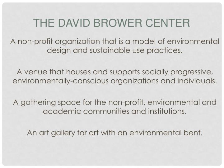 The David Brower Center