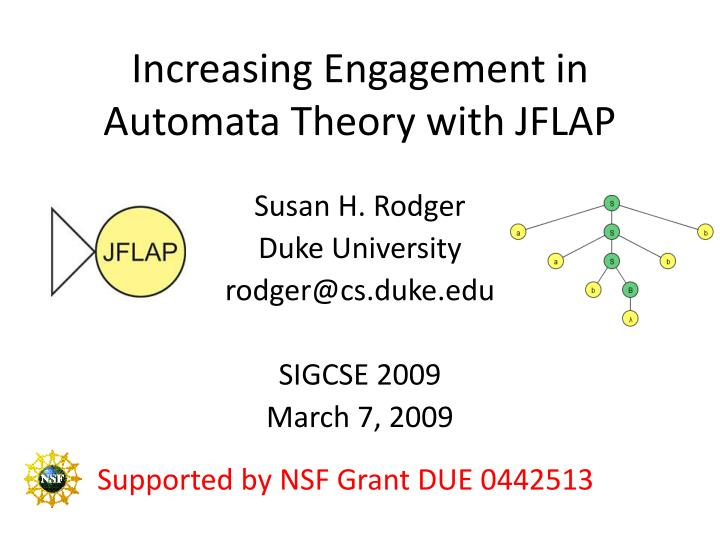 increasing engagement in automata theory with jflap n.