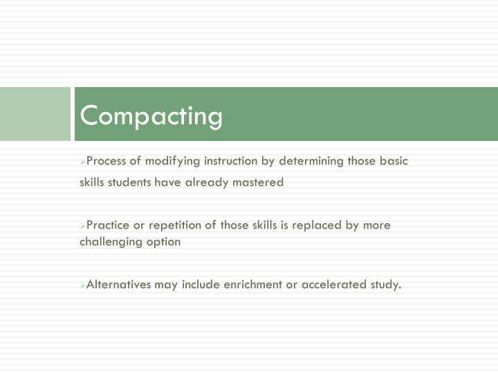 Compacting