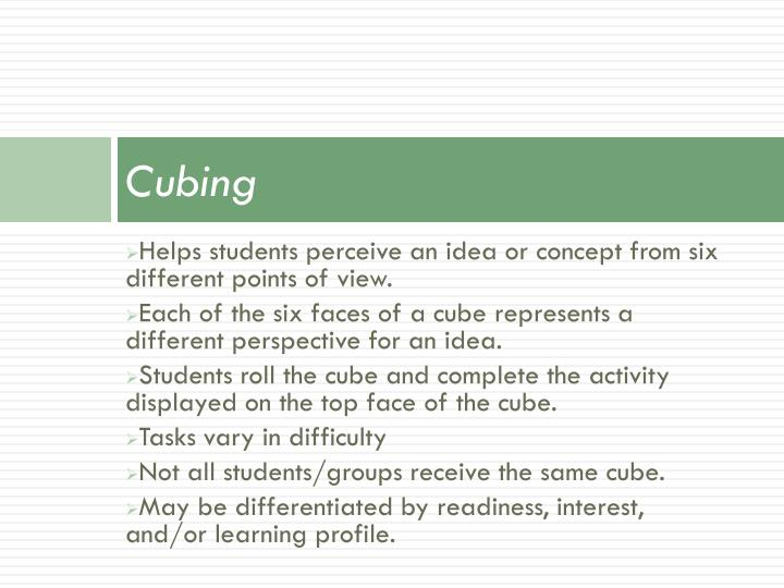 Cubing