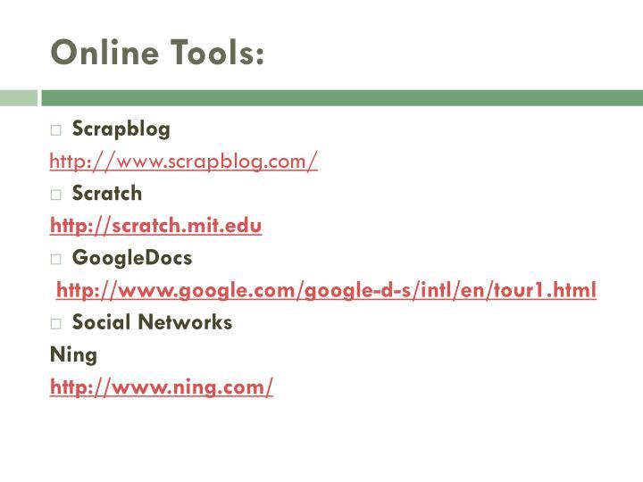 Online Tools: