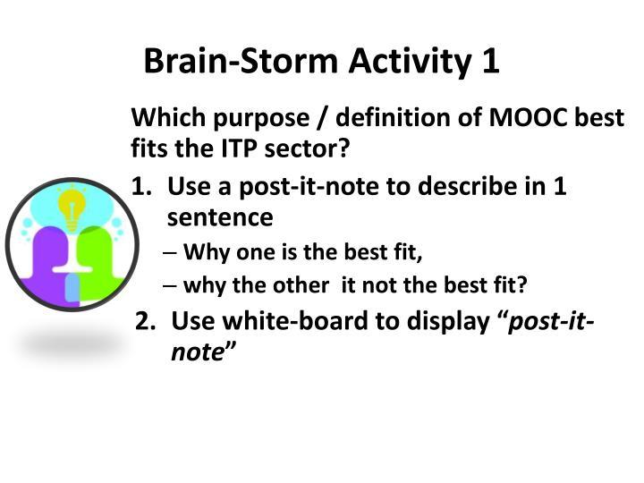 Brain-Storm Activity 1