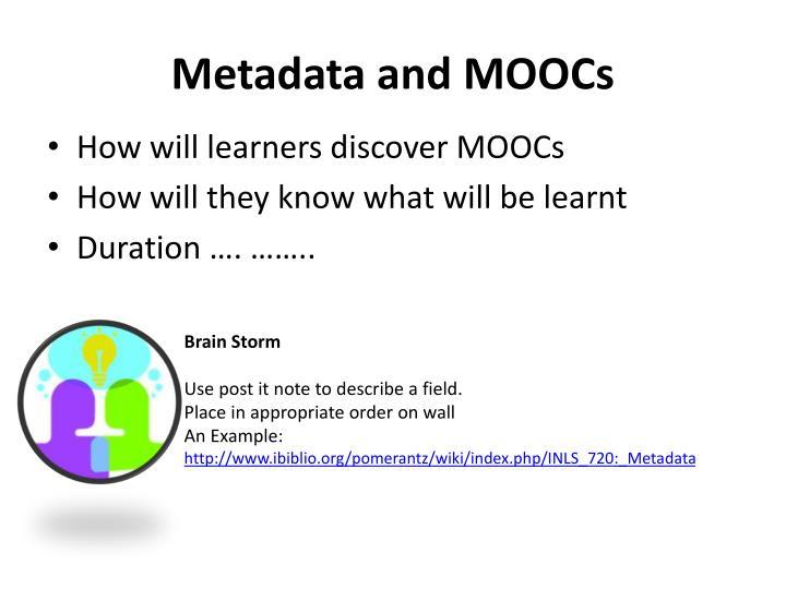 Metadata and MOOCs