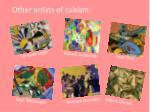 other artists of cubism
