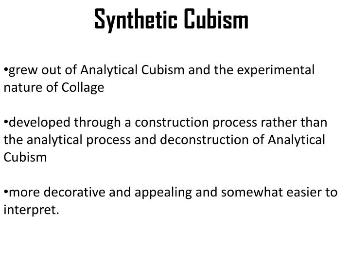 analytical and synthetic cubism
