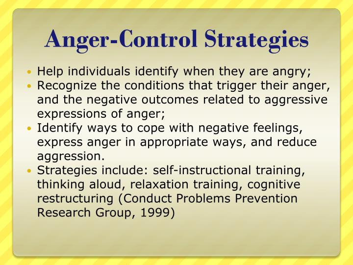 Anger-Control Strategies