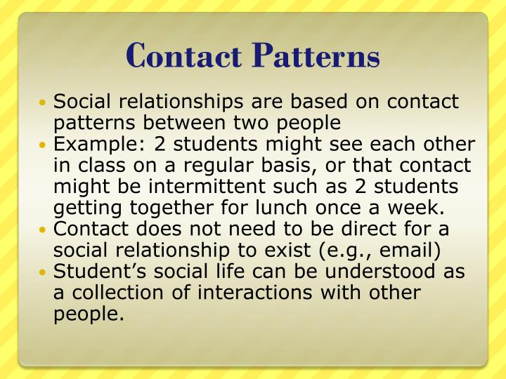 Contact Patterns