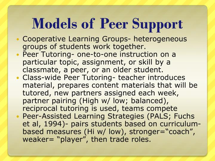 Models of Peer Support
