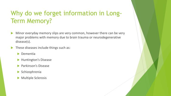 how we forget information