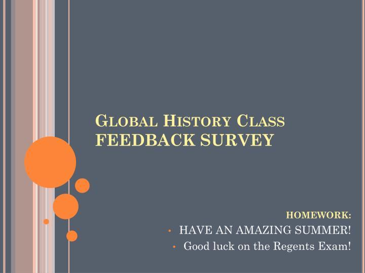 Global History Class