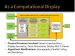 as a computational display
