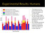 experimental results humans