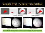 visual effect simulated and real