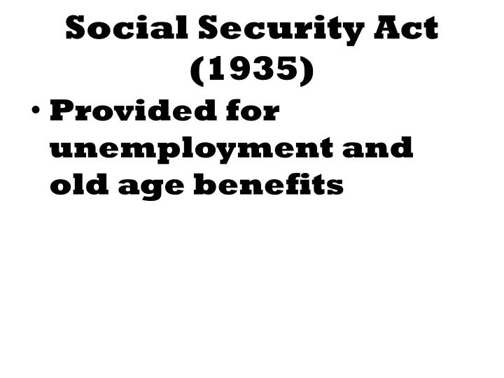 Social Security Act (1935)