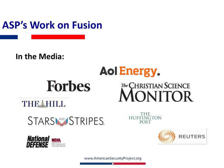 ASP's Work on Fusion