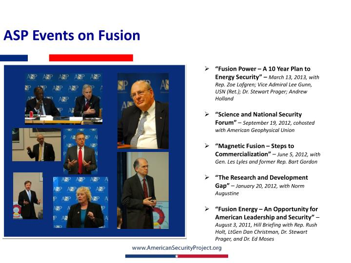 ASP Events on Fusion