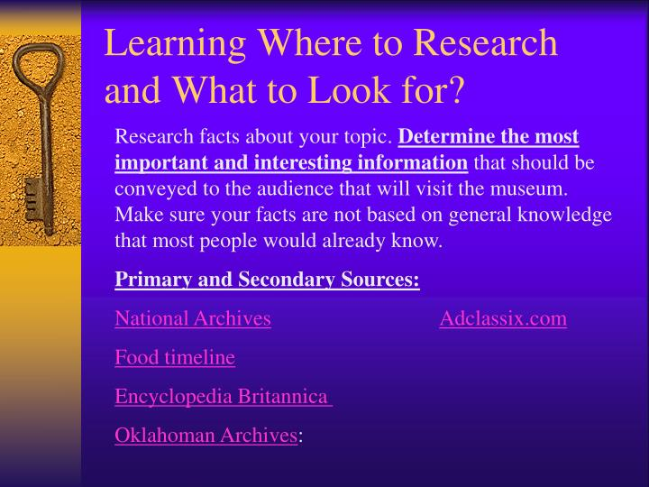 Learning Where to Research