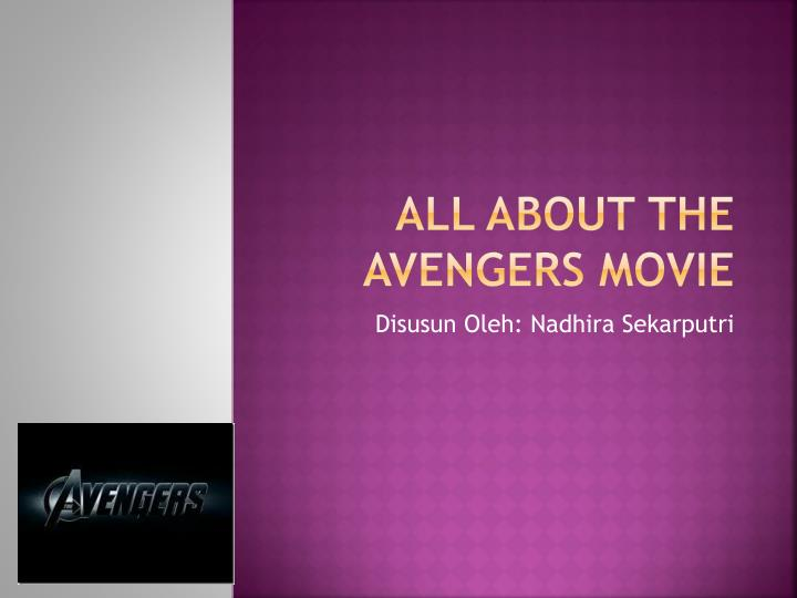 all about the avengers movie n.