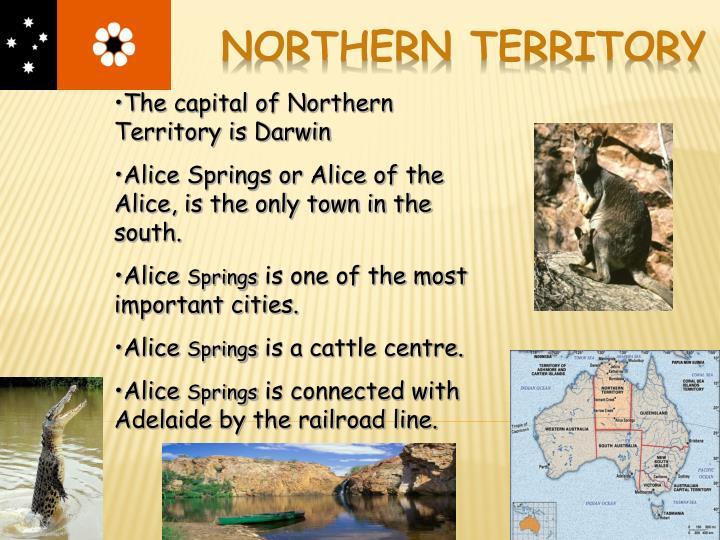 The capital of Northern Territory is Darwin