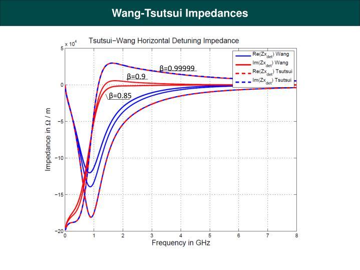 Wang-Tsutsui Impedances