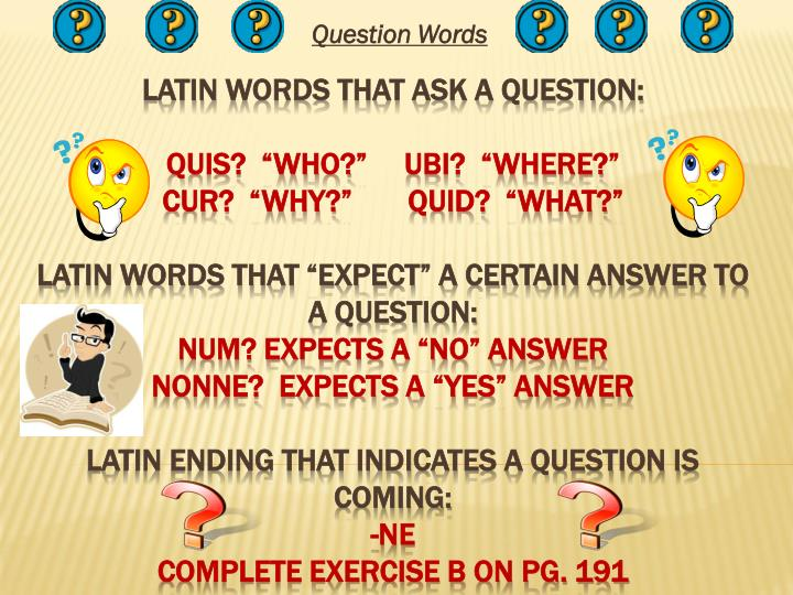 PPT - Question Words PowerPoint Presentation - ID:2849980