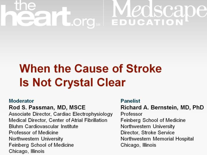 when the cause of stroke is not crystal clear n.