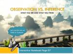 observation vs inference what you see and what you think