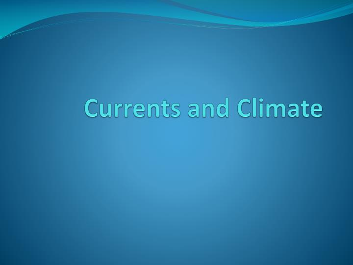 currents and climate n.