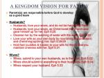 a kingdom vision for family1