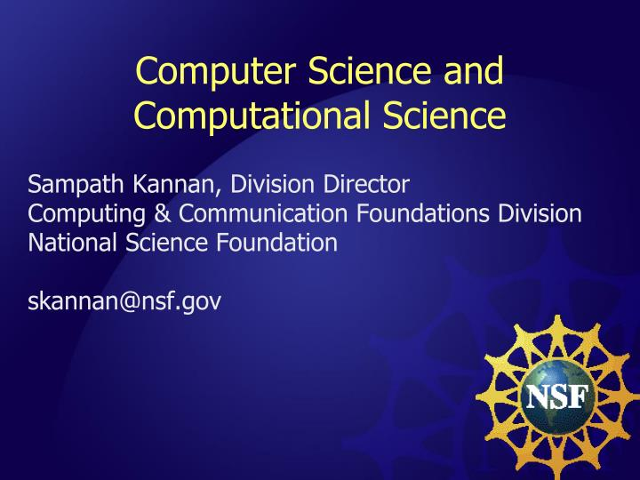 computer science and computational science n.