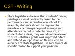 ogt writing