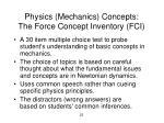 physics mechanics concepts the force concept inventory fci