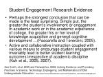 student engagement research evidence