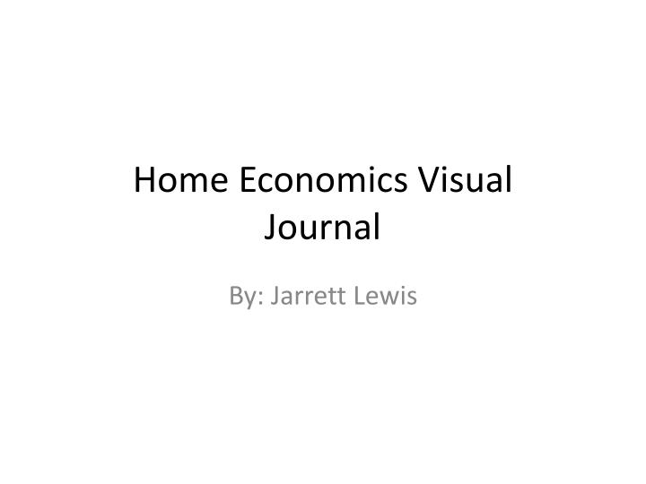 home economics visual journal n.