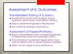 assessment of il outcomes