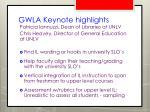 gwla keynote highlights