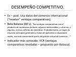 desempe o competitivo