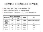 ejemplo de c lculo de v c r