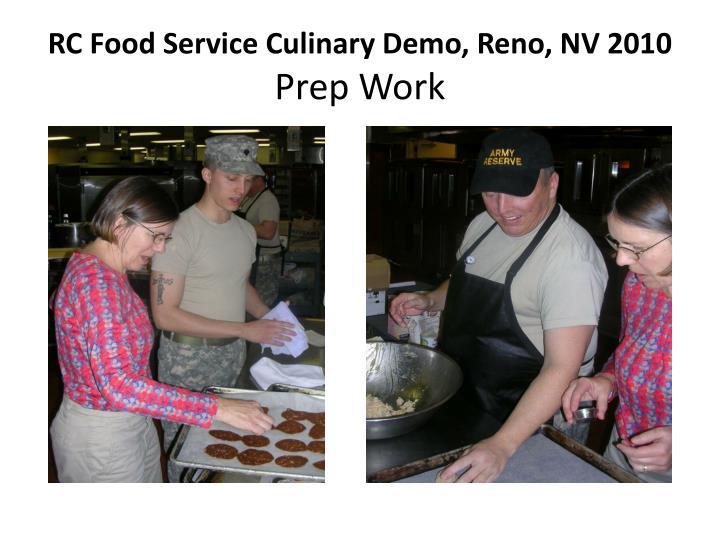 Rc food service culinary demo reno nv 2010 prep work2