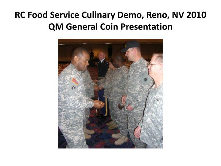 RC Food Service Culinary Demo, Reno, NV 2010
