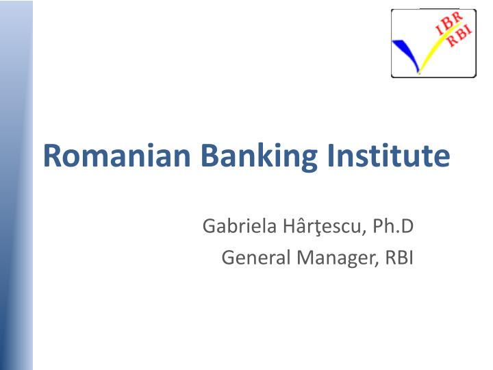 romanian banking institute n.