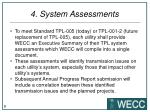 4 system assessments