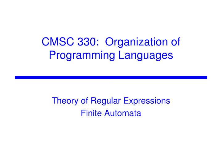 theory of regular expressions finite automata n.
