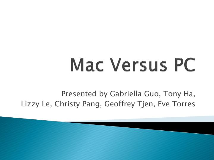 mac versus pc n.