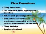 class procedures