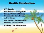 health curriculum
