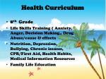 health curriculum2