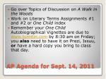 ap agenda for sept 14 2011