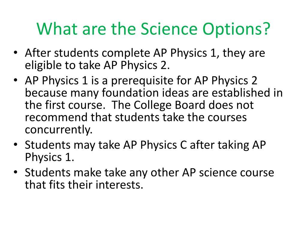 PPT - AP Physics 1 and AP Physics 2 PowerPoint Presentation